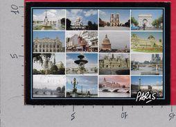 CARTOLINA VG FRANCIA - PARIS - Les Monuments - Multivue - 10 X 15 - ANN. 1989 - Francia