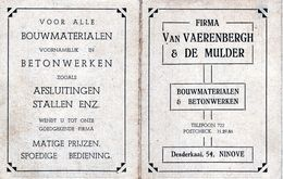 KALENDER CALENDRIER 1948 NINOVE VAN VAERENBERGH & DE MULDER - Calendriers