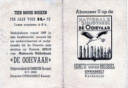 KALENDER CALENDRIER 1947 OPHASSELT BRUSSEL  GENT  NATIONALE BIBLIOTHEEK DE OOIEVAAR - Calendarios