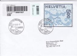 Brief Einschreiben Von Albüron Nach Melchnau. 2000 Naba St. Gallen Stikerei Selbstklebend Mi: 1726 - Suisse