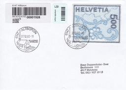 Brief Einschreiben Von Albüron Nach Melchnau. 2000 Naba St. Gallen Stikerei Selbstklebend Mi: 1726 - Storia Postale