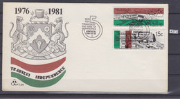 TRANSKEI 1981, FDC, 5 YEARS OF INDEPENDENCE, 15C AND 5C,  See Scans - Transkei