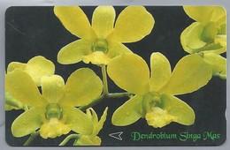 SG.- SINGAPORE TELECOM. $ 10. - Dendrobium Singa Mas.- 83SIGA -. 2 Scans. - Bloemen