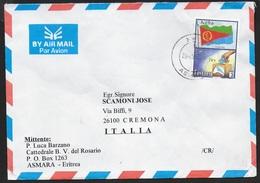 BUSTA DA ASMARA PER CREMONA 9.08.2001 - Eritrea