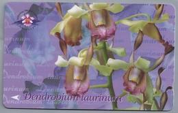 SG.- SINGAPORE TELECOM. $ 10. - Dendrobium Taurinum.- 154SIGB -. 2 Scans. - Bloemen