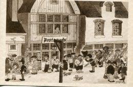 "BELGIUM  Humour Art-drawn ""Ye OLd Print Shop"" - 1933 Chicago World Fair Etc - Humour"