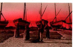 Serie N. 46 Edit. Brunner & C., Como Pêcheurs En Bord De Mer Bateaux - Postcards