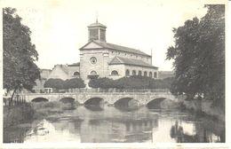 Viroinval - Nismes - CPA - L'Eglise Et Le Pont Sur L'eau Noir - Viroinval