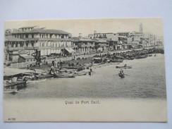 EGYPTE  -   PORT-SAID  -     QUAI      TTB - Port Said