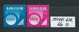ESTLAND MICHEL 656,660 Gestempelt Siehe Scan - Estonia