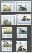 Zaire 1985. Michel #904/07 A+B MNH/Luxe. Birds. 200th Birthday Of James Audubon. (Ts20/B25) - Vogels