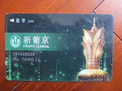 Macau Grand Lisboa,Jade Card - Casino Cards
