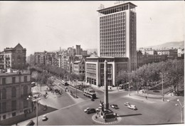 POSTAL DE BARCELONA DEL PASEO DE GRACIA ESQUINA GENERALISIMO FRANCO (ZERKOWITZ) - Barcelona