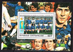 Rep. Central African   -   1981.  Italia Team. BF MNH Rare - Coppa Del Mondo