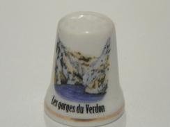 Dé En Porcelaine Les Gorges Du Verdon - Thimbles
