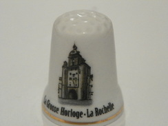 Dé En Porcelaine Lea Grosse Horloge La Rochelle - Thimbles