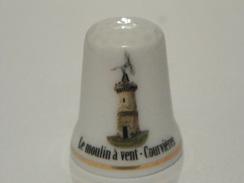 Dé En Porcelaine Le Moulin A Vent Courvieres - Thimbles