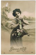 CPA Bonne Fête; Edit D'art P.H. Paris Fille Avec Fleurs, Girl With Flowers (pk41246) - Other
