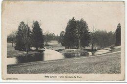 CPA -60 - BETZ -  Une Ile Dans Le Parc - Carte Taxée Voir Verso - - France