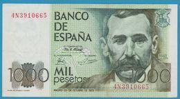 ESPANA 1000 Pesetas 23.10.1979 Serie 4N391 P# 158  Benito Pérez Galdos - [ 4] 1975-… : Juan Carlos I
