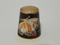 """Dé De Collection Cloisoné""""papillon"""" - Thimbles"""