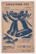 Partition Souviens-toi De L'opérette Marions-nous Chanté Par Alice Cocea Et Robert Burnier De 1931 - Opera