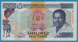 TANZANIA 500 Shilingi ND (1989) Serie BP426463 Sign.3 P# 21a - Tanzanie