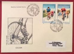 TEMATICA CICLISMO  GIRO CICLISTICO DI ROMANIA 1986    BUSTA CON ANNULLO SPECIALE 29/8/86 - Cyclisme