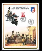 1996 - Belgium Card With Mi. 2617 - Military - 200 Jaar Rijkswacht [D17_090] - België