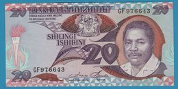 TANZANIA 20 Shilingi ND (1986) Serie GF P# 15 - Tanzanie