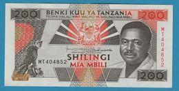 TANZANIA 200 Shilingi ND (1993) Serie MT P# 25b - Tanzania