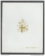 1983 ANNO V Vatican City 7-Coin Mint Set Unc Pope Ioannes Paulus II CITTA DEL VATICANO - Vaticano