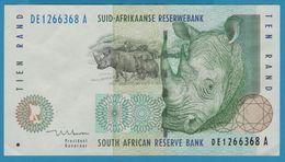 SOUTH AFRICA 10 Rand  ND (1993-1999) Serie DE…A  Signature: Mboweni  P# 123b - Suráfrica