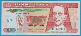 GUATEMALA 10 Quetzales 28.01.2015  Serie D…D  P# 123 - Guatemala