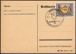 ARCHEOLOGY - GERMANY STUTTGART 1943 - STAMPS DAY - MERCURY - Archeologia