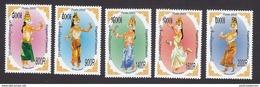 Cambodia, Scott #2257-2261, Mint Hinged, Apsaras, Issued 2005 - Cambodia
