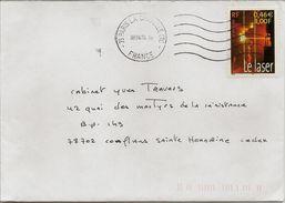 Timbre Seul Sur Lettre Le Siècle Au Fil Du Timbre Le Laser N°3424 (oblitération Du 08/04/2004) - Poststempel (Briefe)