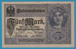 DEUTSCHES REICH 5 Mark  01.08.1917 Serie T.11879560  P# 56b - 5 Mark