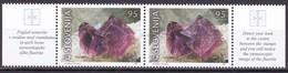 2001, Slowenien, Slovenia, Mi. 345/46, MNH **,  Mineralien:  Fluorit Aus Potok - Slovenia