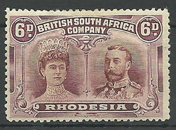 (990642) Rhodesien, BSAC 1910, Double Heads  6d Mint - Sonstige