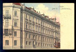 Lwow Dom C. I. K. Zandarmeryi / Postcard Circulated, 2 Scans - Ukraine