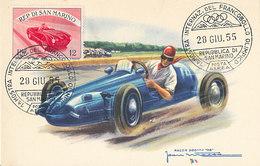 D32017 CARTE MAXIMUM CARD RR 1955 SAN MARINO - RACING CAR CP VINTAGE ORIGINAL - Cars