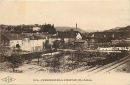 - Dpts Div.-ref-VV985- Haute Saone - Fougerolles Le Chateau - Vue - Ligne De Chemin De Fer - Arriere Plan Usine - - France