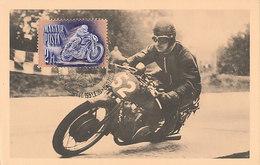 D32019 CARTE MAXIMUM CARD RR 1951 HUNGARY - MOTOR CYCLE RACING CAR CP ORIGINAL - Motorbikes