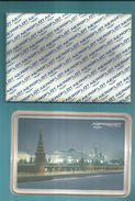 """-  **  3 X Geplastfieerde Reliëfkaarten  In  Map  ** -  """"""""  AEROFLOT - Soviet Airlines  """"""""--- - Aerodrome"""