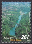 2001, Slowenien, Slovenia, Mi. 349, MNH **, 1000 Jahre Solkan: Eisenbahnbrücke über Die Soca Bei Solkan - Eslovenia