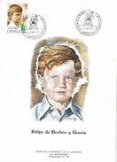 26665. Tarjeta Salon Infancia Juventud BARCELONA 1977. Principe Felipe Borbon - 1931-Hoy: 2ª República - ... Juan Carlos I