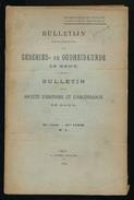 GESCHIED & OUDHEIDKUNDE TE GENT 1912  VAN N° 1 TOT N° 9 -  BLZ 1 TOT 561 - 23X15CM  9 SCANS - History