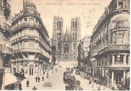 Bruxelles - CPA - L'eglise Et La Rue Sainte Gudule - Lanen, Boulevards