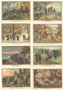16 Chromos Histoire / Guerre / Combats - Bapaume, Rezonville, Tonkin, Belfort, Héricourt, Spicheren, Mercy Le Haut ... - Autres